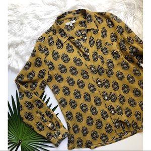 [Madewell] Yellow Button Down Shirt